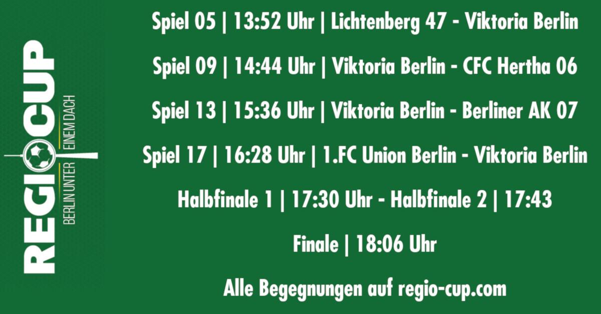 Fc Viktoria 1889 Berlin Regio Cup 2019 Begegnungen Fc Viktoria