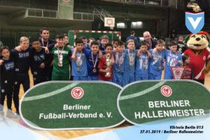 Mannschaftsfoto der Himmelblauen U13 bei der Berliner Hallenmeisterschaft