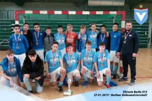 Mannschaftsfoto der Himmelblauen U15 bei den Berliner Hallenmeisterschaften