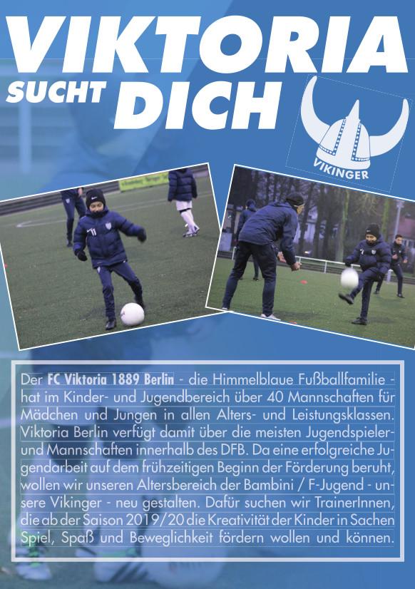 Viktoria Berlin sucht TrainerInnen für seine Vikinger - Seite 1