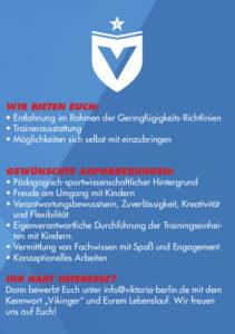 Viktoria Berlin sucht TrainerInnen für seine Vikinger - Seite 2
