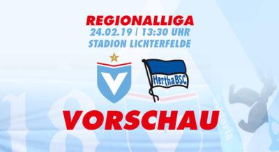 Vorschau zum Regionalligaspiel Viktoria berlin gegen Hertha BSC II